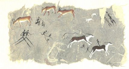 Bushmen drawings in the Tsodilo Hills